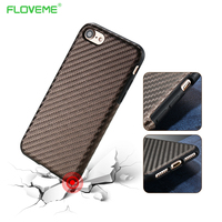FLOVEME Case For Apple IPhone 7 Coque Business Fiber Skin Slim Shell Hybrid TPU PU Bag