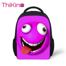 Thikin 2019 Funny Expression Preschool Packie Backpack for Kids Girls Big Red Lips Schoolbag Good Childrens Day Present