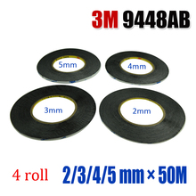 3M 9448AB Mixed size 4 roll(2/3/4/5 mm) width, Strong Bonding Acrylic Adhesive Double side tape for LCD or small gadgets repair
