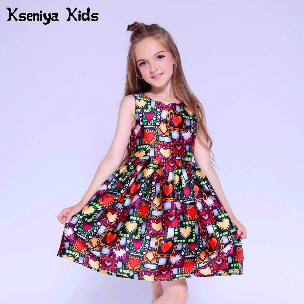 Kseniya Kids Dress Princess Girl Clothing Brand Cute Children Party Dresses  For Girls 10 12 Girls Dresses Age 13