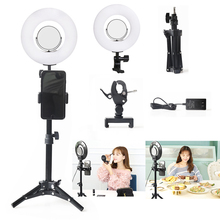 8INCH 5500K Dimmable Ring Light Photography Live Video For  LED Selfie Makeup Photo Studio Lighting With Light Stand capsaver 2 in 1 kit led video light studio photo led panel photographic lighting with tripod bag battery 600 led 5500k cri 95