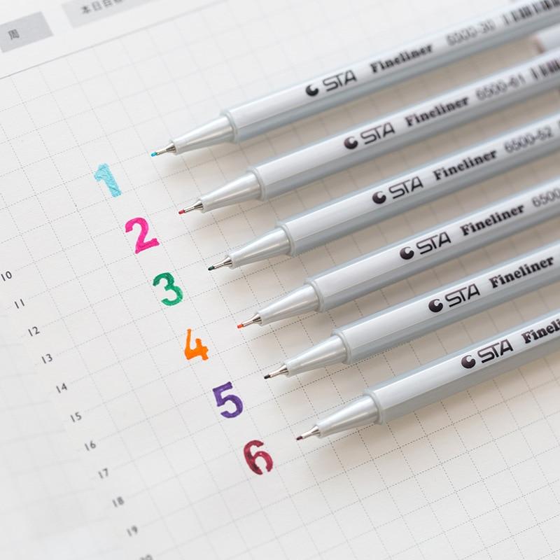 0.4mm Fineliner Pens Superfine Marker Pen 26 Colors Water Based Ink Graffiti Art Markers Art Supplies For Drawing Hook Fiber Pen