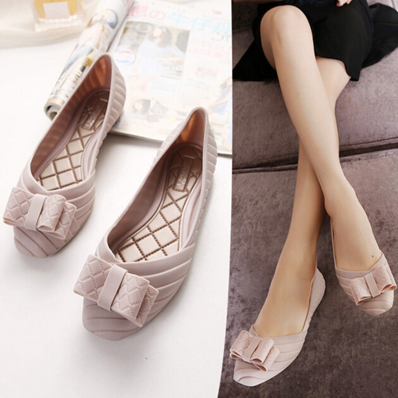 Fashion New Women Shoes Waterproof Jelly Sandals Slippers Flats Cutout Mixed Colors Girls Beach