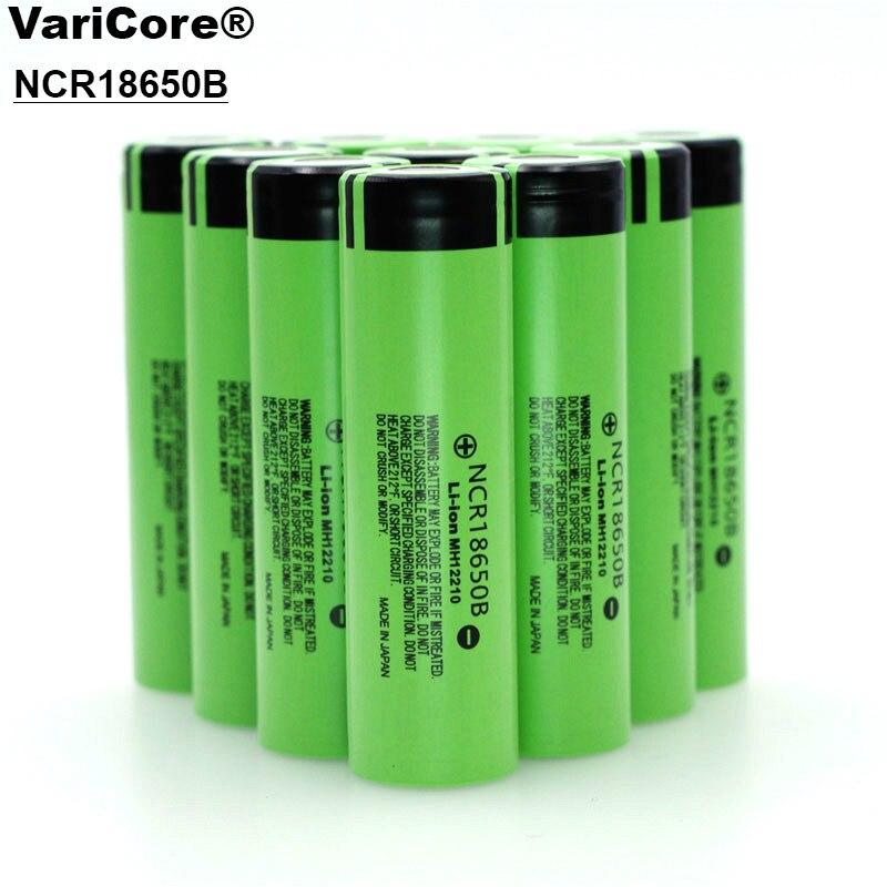 VariCore Novo NCR18650B Originais 18650 3400 mAh 3.7 V Bateria Recarregável para baterias de Laptop Panasonic