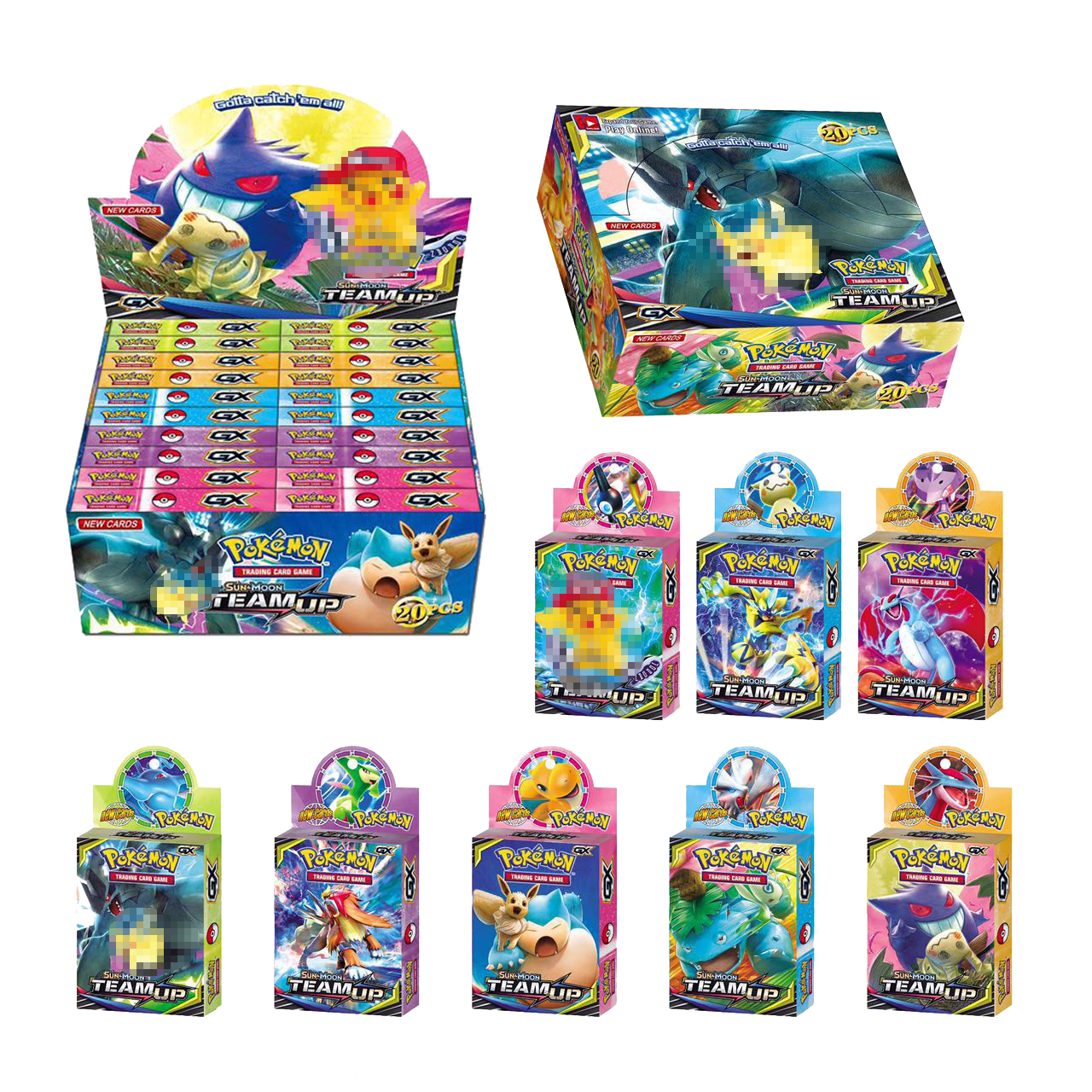 Tomy Pokemon 33PCS GX EX MEGA Cover Flash Card 3D Version SWORD SHIELD SUN&MOON Card Collectible Gift Children Toy