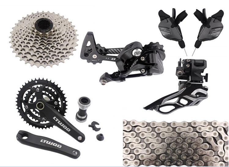 все цены на Made In China ultegra bicycles group 10 speed  30 speed  mtb groupset mountainbike groupset bicycle parts lot 9pcs онлайн
