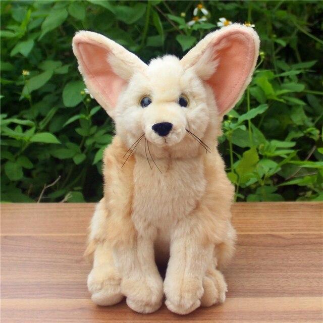 Simulation Fox Doll Plush Toy Wide Ear Fox Realistic Fennec Fox