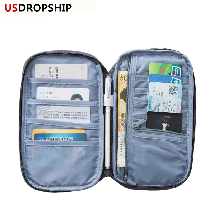 USDROPSHIP New Travel Card Holder Passport Cover Women Travel Passport Wallet Organizer Purse Passport Credit Card Passport bag lxhysj fashion print passport bag lady travel passport file credit card identity card holder organizer multi functional bag