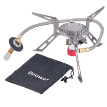 HW2016 NEW arrival  Dpower Mini Portable Folding Camping Gas-powered Stove with Piezo Ignition