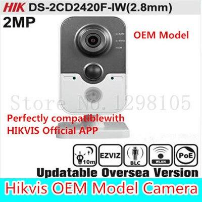 Buy HIKV DS-2CD2420F-IW(2.8mm) Original English Version IP Camera 2MP Support POE WIFI Mini Camera IP Camera P2P Onvif HIK HD
