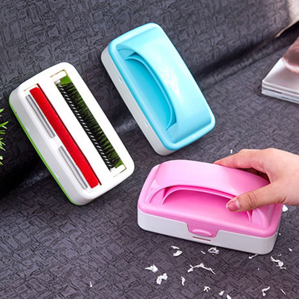 Bestdeal Store 1Pcs Static Brush Clothes Double Rollers Magic Lint Dust Brush Hair Remover Cloth Dry Cleaning with Rotatable Brush Wholesale