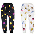 2016 Autumn/Winter Free shipping men/women pants print cartoon emoji sweatpants spring/summer hip hop joggers pants