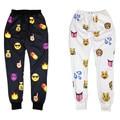 2016 Otoño/Invierno de los hombres Libres del envío/pantalones de las mujeres de impresión de dibujos animados emoji pantalones primavera/verano hip hop corredores pantalones