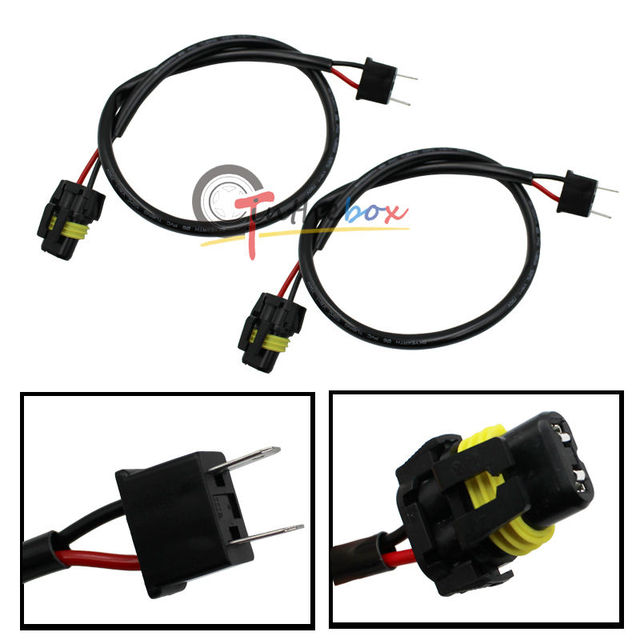 2 H7 Wire Harness for HID Ballast to Stock Socket For HID Conversion Kit Plug_640x640 aliexpress com buy (2) h7 wire harness for hid ballast to stock 120V Ballast Wiring Diagram at soozxer.org