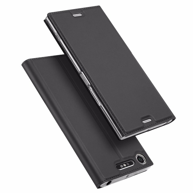 DUX DUCIS Leather Case for Sony Xperia XZ1 Funda Luxury Flip Stand Card Holder Wallet Cover for Sony XZ1 Phone Case Coque Hoesje