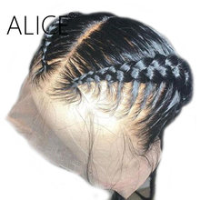 Alice 250% Density Full Lace Human Hair Wigs With Baby Hair Pre Plucked Long Straight Full Lace Wigs Glueless Remy Hair Wigs(China)