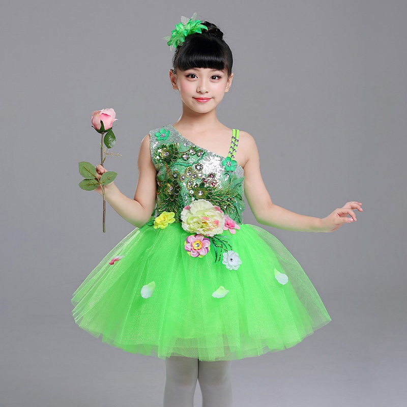 Girl Ballet Clothes Dance Dress Gymnastics Leotard Ballroom Performance Competition Practice Ballet Dress Children Girl Skirt