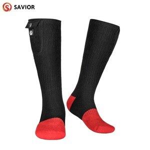 Image 1 - Kış sıcak elektrikli ısıtmalı çorap ile şarj edilebilir pil Powered ayak ısıtıcı kadınlar erkekler için