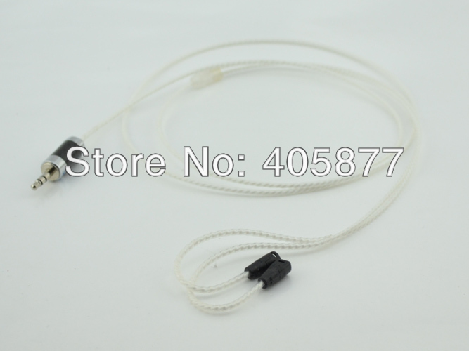 High quality silver plated headphone cable for IE8 IE80 with carbon fiber 3.5MM plug headphone audio cable 1M цена и фото