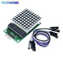Módulo De Pantalla LED de matriz de puntos MAX7219, kit de Control de un solo chip, salida de 8x8, entrada de cátodo común para arduino MCU, Kit de Control