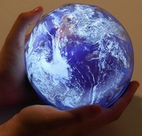 USB AA Battery Powered LED Night Light Starry Sky Earth Rotate Projector Lamp Novelty Baby Colorful