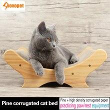 VOVOPET Cats Scratch Post Board With Catnip Lounge Sofa Grinding Nails Corrugated Cat Scratcher Pet Cats kitten Scraper