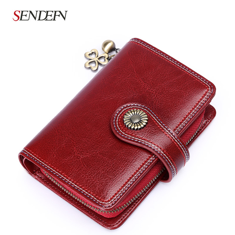 Sendefn 2018 new wallet female short paragraph leather Korean student personality wallet Ms. small purse wallet buckle tide 2016 new arrival women s luxury jacket short paragraph korean version nagymaros collar female was thin tide coat mz575 page 4 page 1