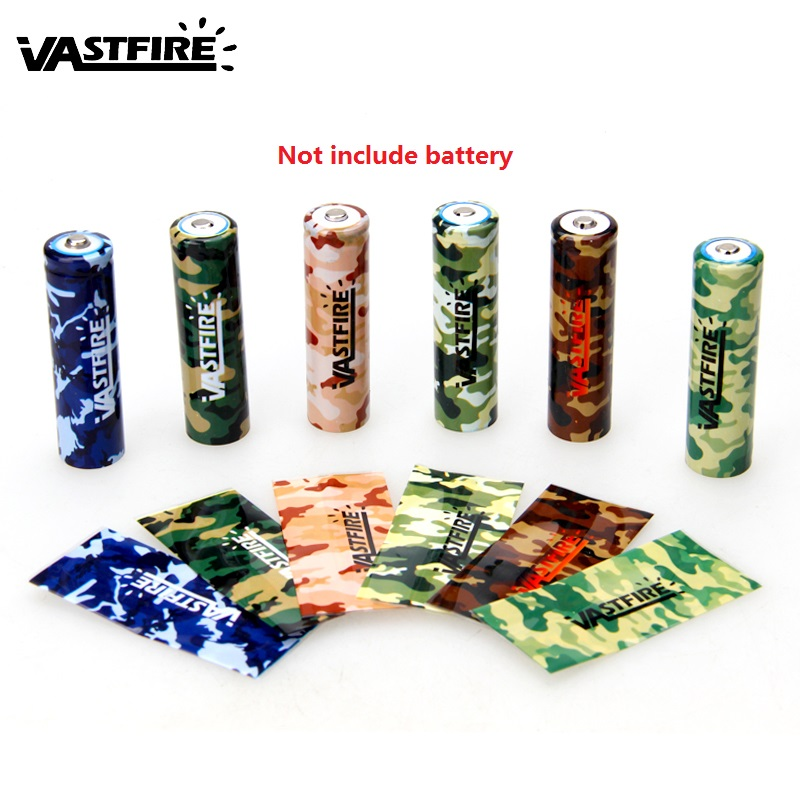 Vastfire 10 Pcs/lot Camouflage 18650 Battery Sticker Cover Skin Battery Wrap Protective Skin Sleeve PVC Heat Shrinkable Tubing