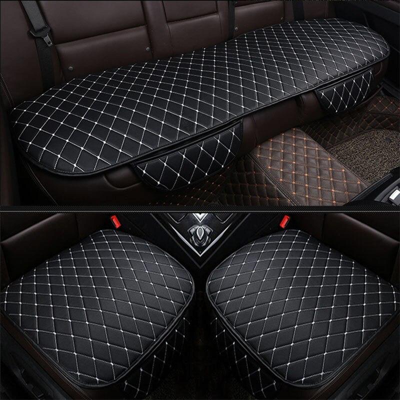 Nova Moda PU de Couro Do Assento de Carro Almofada de Quatro Temporadas Respirável Tampa de Assento Auto Universal Auto Pat Anti-slip Mat