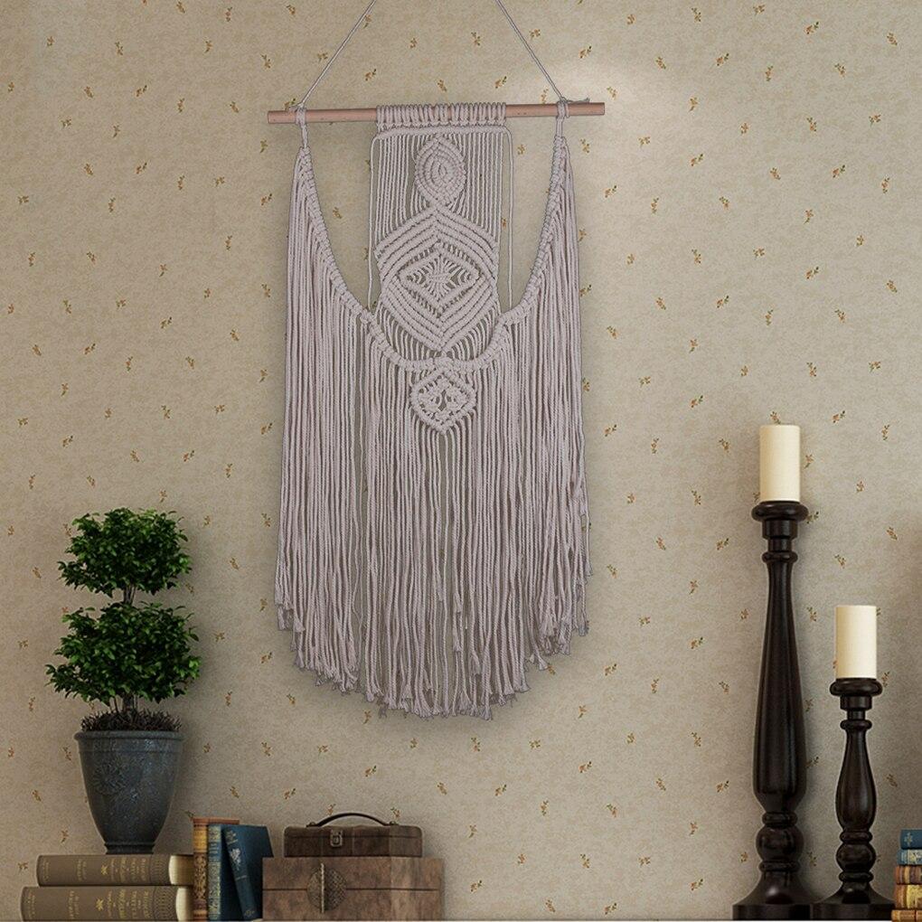 Новый ручной работы кисточкой гобелен хлопок веревку ремесло в богемном стиле макраме висят настенные украшения для гостиной Вечерние