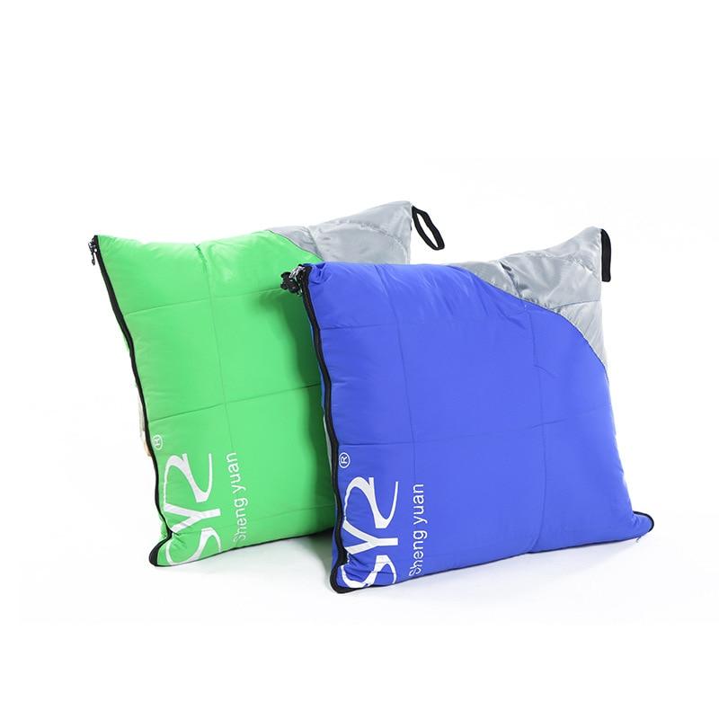 VILEAD 2 цвета утка подпушка спальный мешок как подушка легкий Кемпинг вещи пеший Туризм зима Сверхлегкий взрослых лагерь Стёганое одеяло-in Спальные мешки from Спорт и развлечения