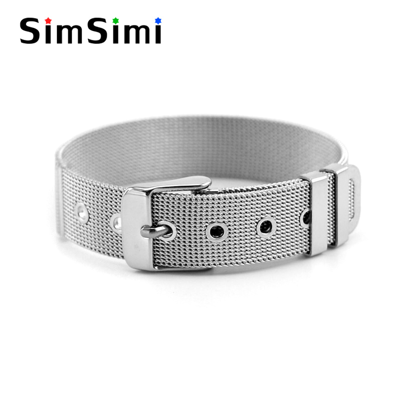 10pcs women somer sets Narrow Buckle Bracelet density Mesh watch band Casual modern elegant stainless steel Bracelet Wrist Strap ...