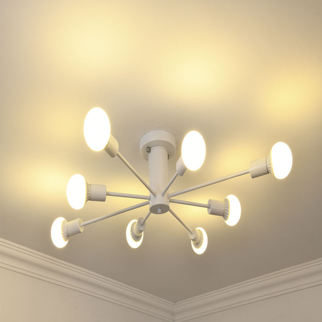 Post-Modern Nordic E26 E27 bulb led chandelier light living room  led lamps iron Chandelier lighting led lustre lighting lamps