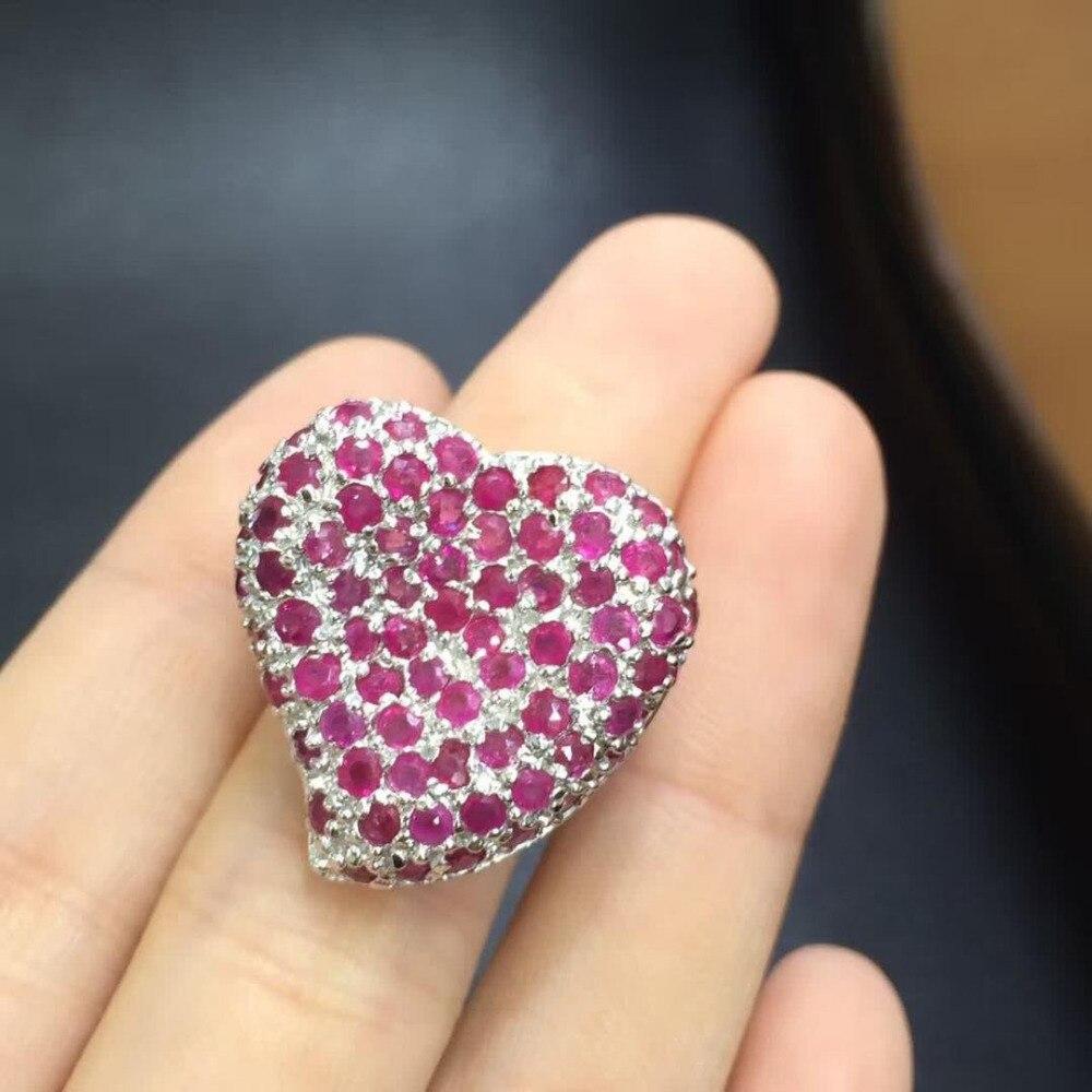 Qi Xuan_Fashion bijoux _ rouge pierre Simple élégant femme Rings_S925 solide argent mode rings_fabricant directement ventes