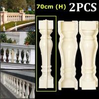 2Pcs 70*13.5 cm Roman Column Mold Fence Cement Mold Balcony Stair Garden Railing Plaster Concrete Mold Plastic Building Decor