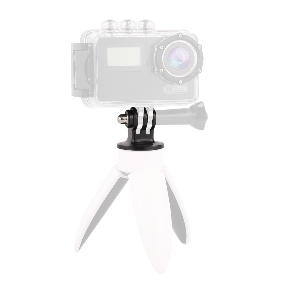 Image 4 - Kaliou 2pcs Go pro Accessories Tripod Mount Adapter for Go pro 7 6 5 4 3+ 3 2 1 SJ4000 Sj8 pro Tripod Monopod Selfie Stick-in Sports Camcorder Cases from Consumer Electronics