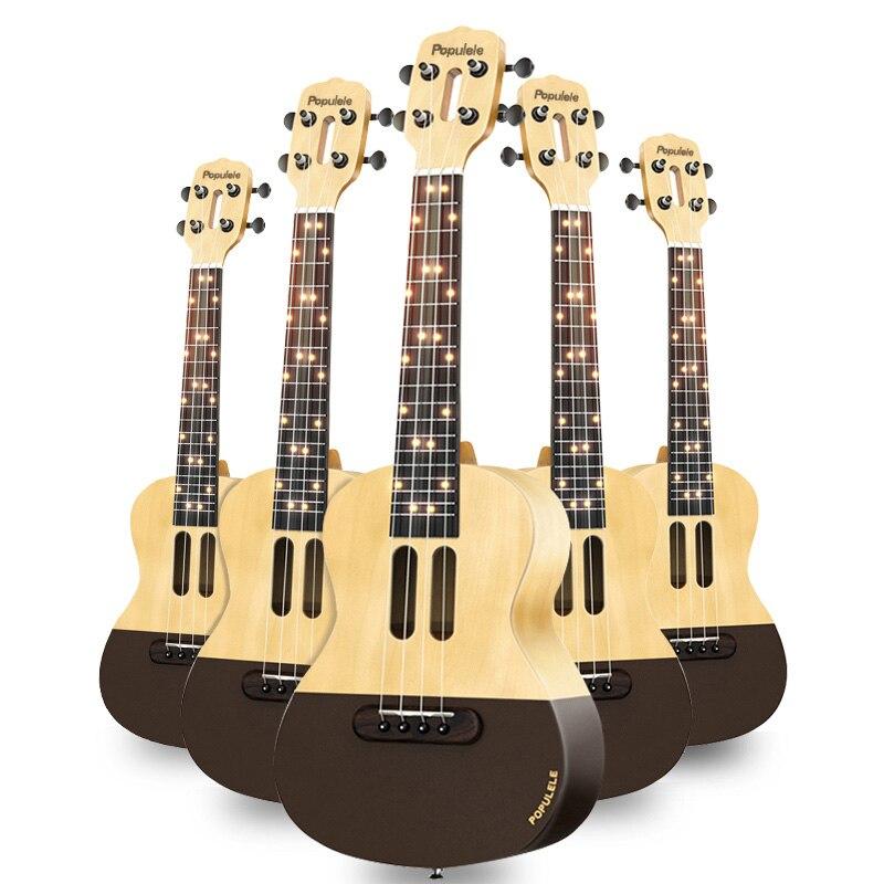 Populele U1 Smart ukulélé Concert Soprano 4 cordes 23 pouces guitare électrique acoustique de Xiaomi APP Phone Guitarra ukulélé - 5