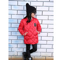Spring Autumn Kids Duck down coats Girls Warm Down Jackets Outlet Cheap Brand Long Sleeve Waterproof wax jacket parka for girl