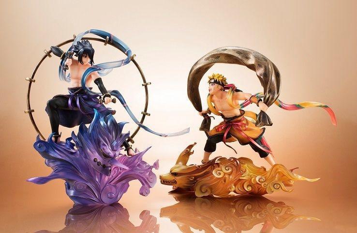 20-25CM Naruto Uzumaki Naruto Uchiha Sasuke Cartoon Anime Action Figure PVC toy Collection figure for christmas gifts фигурка героя мультфильма japan cartoon action figure naruto protagonist