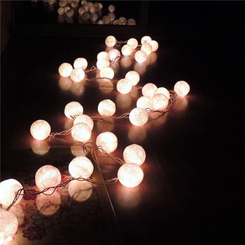 Lampe boule de coton lumières de noël télécommande LED lampe de poche festival célébration scène magasin lampe décorative chaîne - 3