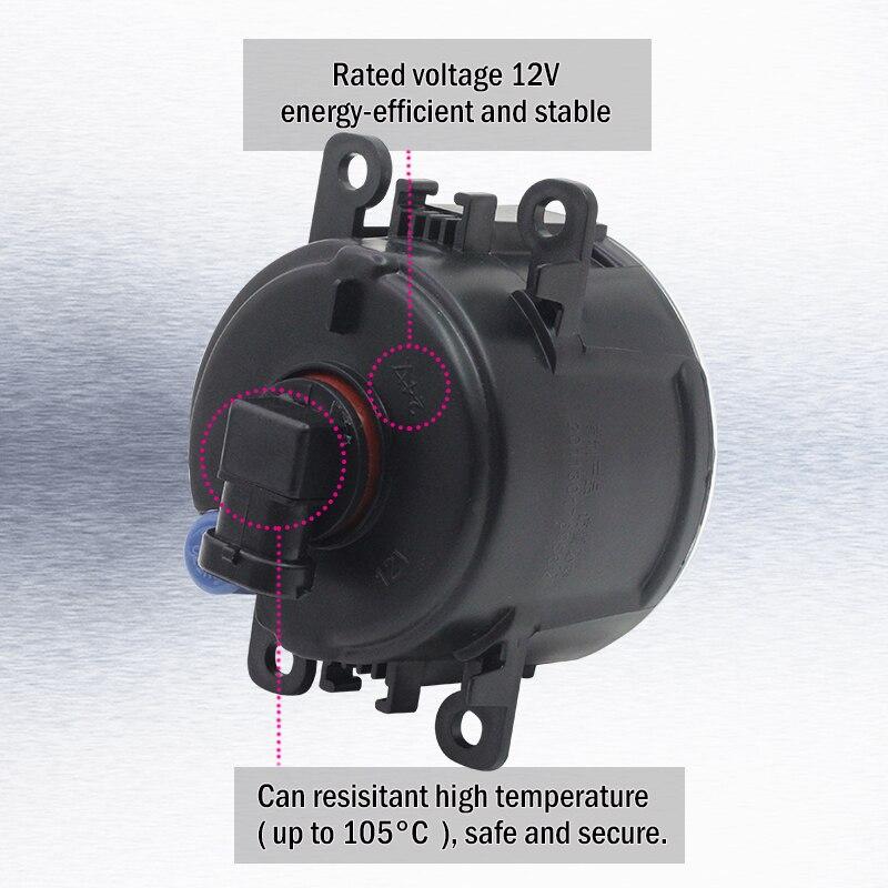 Cawanerl 2 X Car Light 4000LM /Set LED Fog Light Daytime Running Lamp DRL 6000K White 12V For Opel Corsa D Hatchback 2007-2015