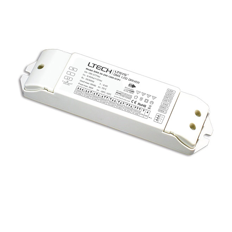 LTECH DMX dimming Driver;36W DMX LED Dimmable driver;AC100-277V input 200-1200mA Constant Current output DMX Led Dimming Driver цена 2017