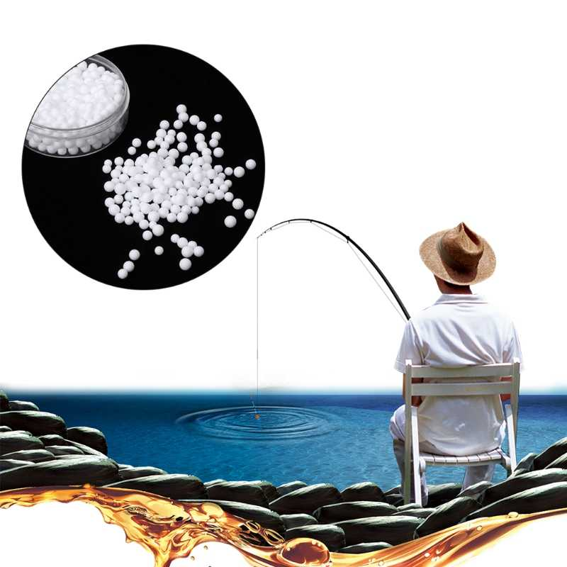 الجملة 1 صندوق الصيد الطعم رغوة الطفو المنبثقة الأبيض 2-4 مللي متر إغراء جولة الخرز الكارب Bream
