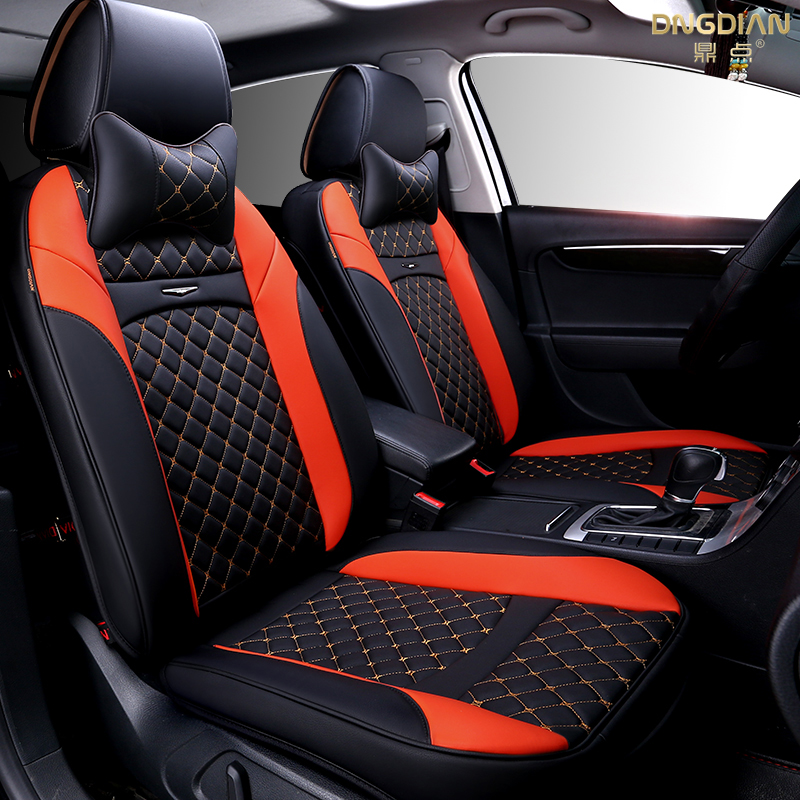 6D Styling Car Seat Cover For Cadillac ATS CTS XTS SRX SLS Escalade,High-fiber Leather,