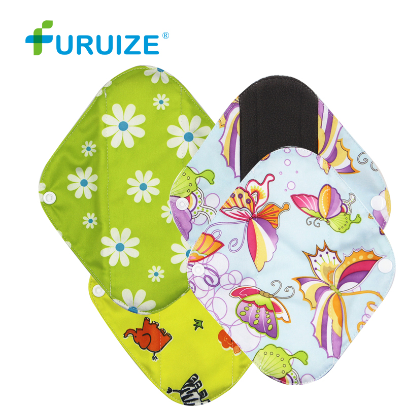 Menstrual Cloth Pads breathable Feminine Hygiene Pads waterproof Bamboo Charcoal Pads Good than Menstrual Cup Sanitary Cloth Pad [mumsbest] 10pcs bamboo cotton washable cloth maternity pads menstrual reusable sanitary pads napkin waterproof panty liners