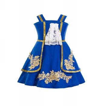 Little Girl Belle Classic Princess Beauty & The Beast Costume Dress up Dresses Toddler Girl Halloween The Beast Prince