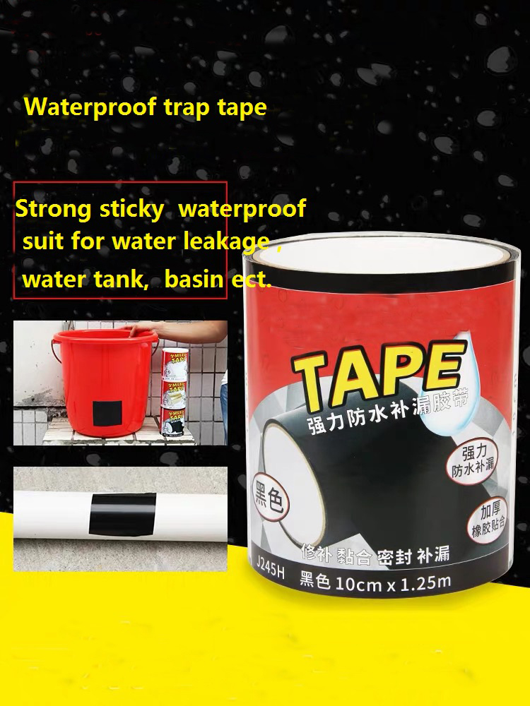 Прочная водонепроницаемая лента 10 см x 1,5 м, суперклейкая лента, лента для ремонта и утечки, лента гибкая, прочная Лента для запечатывания вод...