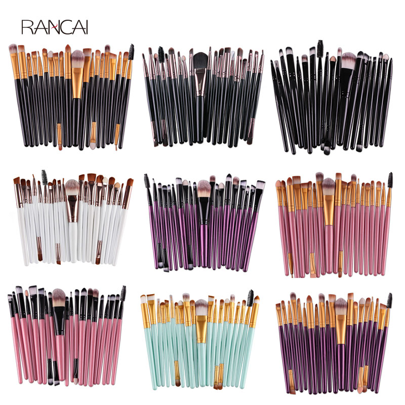 20pcs Eye Makeup Brushes Set Eyeshadow Eyebrow Eyelashes Eyeliner Lip Brush Sponge Smudge Brush Cosmetic Tool Pincel Maquiagem 9pcs professional makeup brushes set pincel maquiagem powder eye foundation eyebrow eyeliner lip brush cosmetics beauty tools