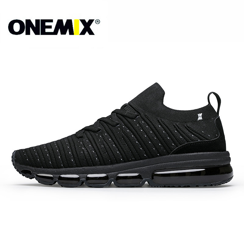 ONEMIX 2018 running shoes for men light cool breathable sneakers knitted vamp durable RB outsole socks