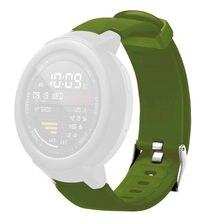Mais novo esporte de substituição silicone pulseira de relógio para huami amazfit verge juventude relógio de alta qualidade acessórios de relógio inteligente